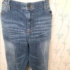 Women's Mossimo Curvy Bootcut Blue Denim Jeans 18R